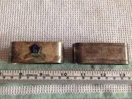 antique fish ring holder images Sterling silver antique folding napkin ring antiques gumtree JPG