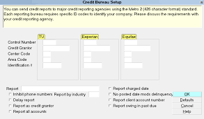 bureau standard how to setup credit bureau reporting collect help