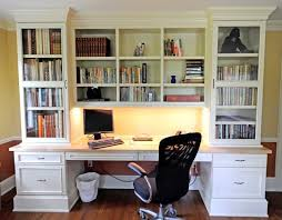 Desk With Computer Storage Wall Units Stunning Built In Desk And Bookshelves Built In Desk