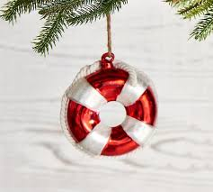 glass lifesaver ornament pottery barn