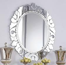 Stylish Roxbury Round Decorative Wall Mirror Contemporary Mirrors