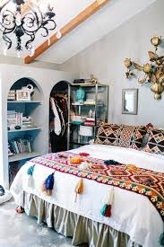 judy aldridge gives her home a boho thrift store makeover mural
