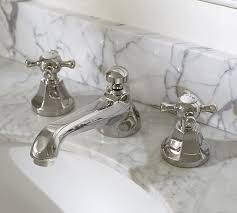 bathroom faucet ideas cross handle widespread bathroom faucet pottery barn