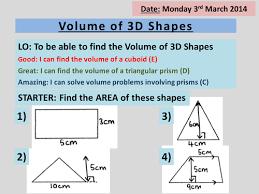 volume of 3d shapes triangular prisms u0026 cylinder by
