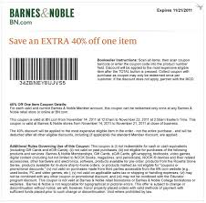 Barnes And Noble Online Application Barnes U0026 Noble 40 Off Coupon Deal Through January 21 2017