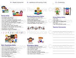 daily behavior report template preschool printable daily reports