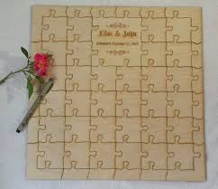 personalized guest book custom laser jigsaw puzzle guest book alternative baltic birch