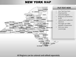 usa new york state powerpoint county editable ppt maps and templates