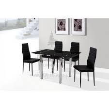 Black Glass Extending Dining Table Black Glass Extending Dining Table Enchanting Decoration Remix