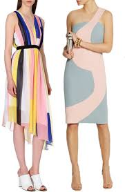 dresses for summer wedding summer wedding guest dresses colour blocking chic onefabday