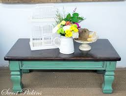 coffee table teal and distressed like this option keep chairs