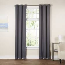 Gray Blackout Curtains Gray And Silver Curtains Drapes You Ll Wayfair