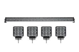 led light bar bundle dual carbine 50 quad carbine square off road lights stl