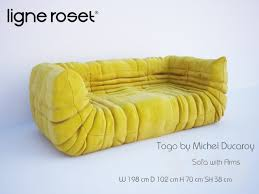3d models sofa togo sofa with arms by michel ducaroy ligne roset