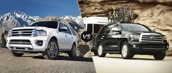 ford expedition interior 2016 ford expedition vs 2016 toyota sequoia