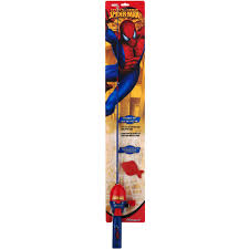 shakespeare spider man fishing kit with 2 u00276