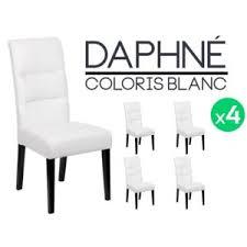 lot 4 chaises blanches altobuy daphné lot 4 chaises blanches pas cher achat vente