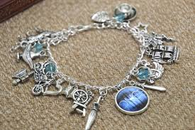 6pcs once upon a themed charm bracelet designs in