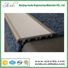 aluminum non slip carpet stair treads stair nosing with pvc infill