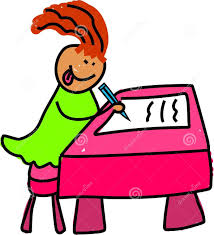 Picture Of Student Sitting At Desk by Kid Writing At Desk Clipart Clipartxtras