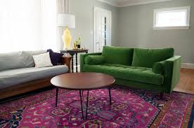 Green Sofa Living Room Colorful Living Room Refresh Green And Pink Rug And Then
