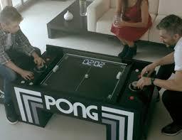 atari pong multifunctional coffee table gadget flow