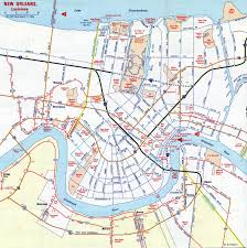 New Orleans French Quarter Map by Louisiana Aaroads New Orleans