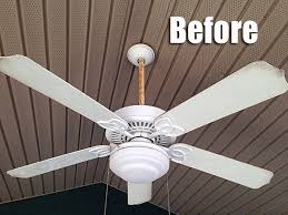 spray paint ceiling fan the great outdoor fan renovation living rich on lessliving rich on