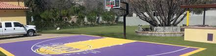terrific small backyard basketball court images decoration