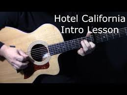 tutorial virtual guitar how to play hotel california intro on guitar by the eagles don
