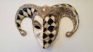 venetian masks scacci jolly bicorna 1 2 silver 1 2 black white venetian masks