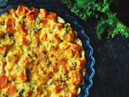patate douce cuisine recette tarte kale chèvre et patate douce femininbio