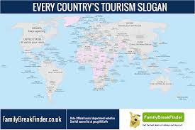 Nepal On World Map by Map Shows Every Country U0027s Tourism Slogan
