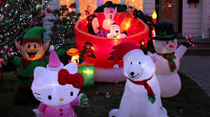 my airblown inflatable christmas display 2014 youtube
