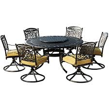 Aluminum Patio Dining Set Shop Sunjoy 7 Cast Aluminum Patio Dining Set At Lowes