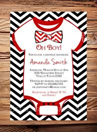 bow tie baby shower invitations and black baby shower invitations oh ba shower invitation boy