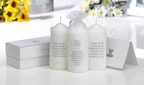 christening candles photo christening candle pink blue or neutral