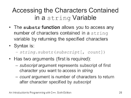 Count Characters In Access An Introduction To Programming With C Sixth Edition Chapter 13