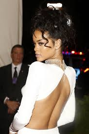 met gala 2014 rihanna attends without a bra shines bright like a