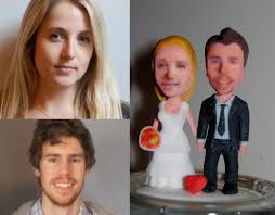 customized wedding cake toppers custom 3d printed wedding cake toppers