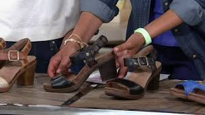 dansko leather sandals with adj ankle strap debby on qvc youtube