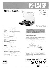 sony pslx45p service manual immediate download