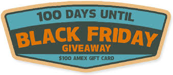 amazon black friday prize entry 100 days until black friday giveaway 100 days until black friday