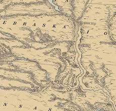 map of missouri river missouri river valley antique map circa 1940 gallup map