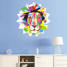 sticker pop art lion majestueux 1 ambiance sticker col sand a008 jpg