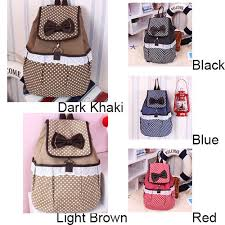 book bags with bows polka dot bow lace canvas backpack only 22 99 canvas