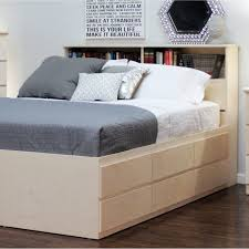 full size bed with drawers and headboard bedroom queen storage bed with bookcase headboard king bed with