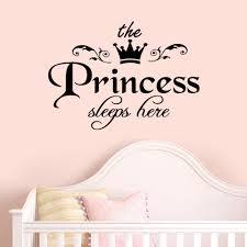 princess sleeps baby kids girl quote wall stickers art room princess sleeps baby kids girl quote wall stickers art room removable