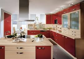 kitchen astounding red kitchen wall with white kitchen cabinet