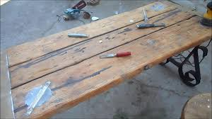 hatch cover table craigslist liberty ship hatch cover table restoration youtube